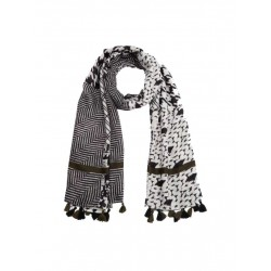 Print scarf with tassels by s.Oliver Red Label