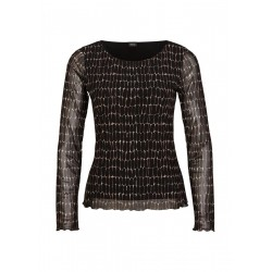 Mesh long sleeve shirt by s.Oliver Black Label