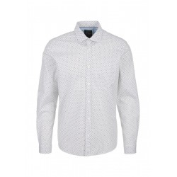 Regular Fit: Patterned stretch shirt by s.Oliver Red Label