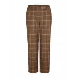 Check trousers by Comma