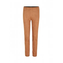 Narrow stretch pants from suede imitation by Comma