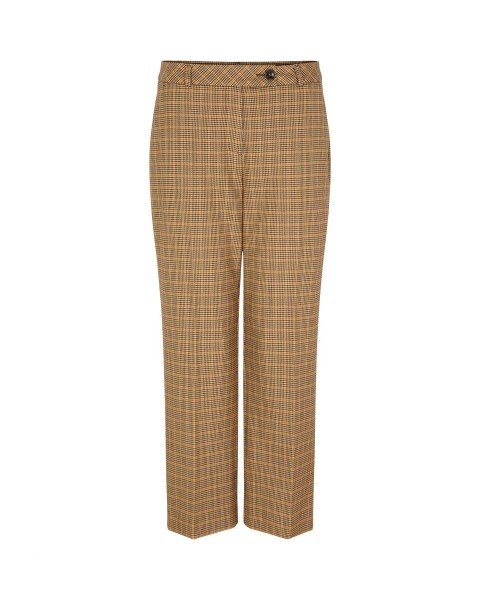 Crop legg pants with check pattern by Comma