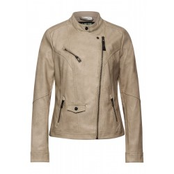 Biker Style- Fake Leather Jacket by Street One