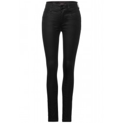 High Waist Denim with Coating by Street One