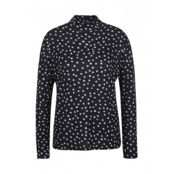 Fine knit shirt with dot pattern by s.Oliver Red Label