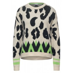 Jacquard sweater with leo by Street One
