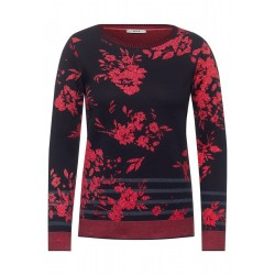 Pull avec motif floral by Cecil