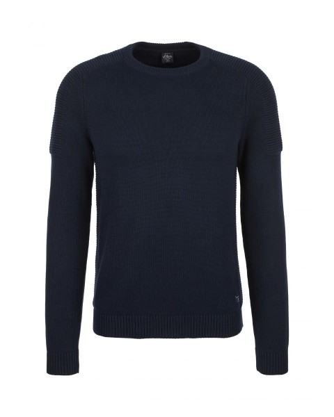 Knitted sweater with structure detail by s.Oliver Red Label