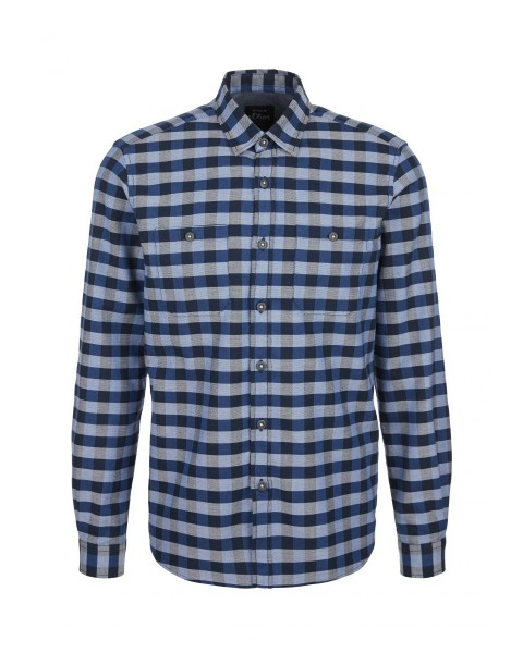 Regular: cotton shirt with checks by s.Oliver Red Label