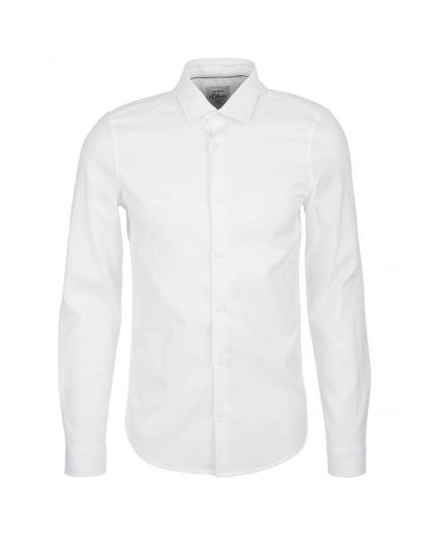 Slim: stretch shirt with structure by s.Oliver Red Label