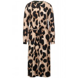 Midi dress with leopard pattern by Street One