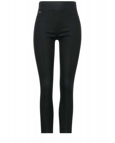 Skinny fit pants with coating by Street One