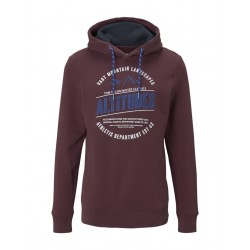Hoodie with print by Tom Tailor
