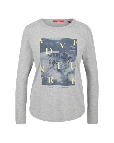 Long sleeve shirt with print collage by s.Oliver Red Label