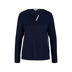 Long sleeve shirt with henley neckline by Tom Tailor