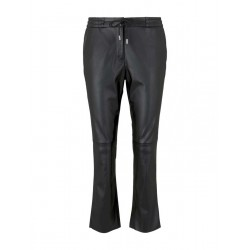 Loose fit faux leather pants by Tom Tailor