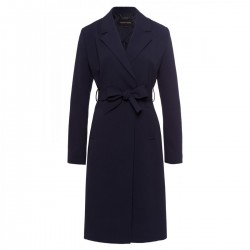 Coat with tie belt by More & More