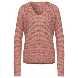Mouliné sweater with V-neck by Street One