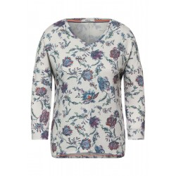 Cosy Shirt mit Blumenmuster by Cecil
