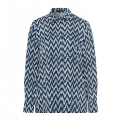 Blouse with zigzag print by More & More