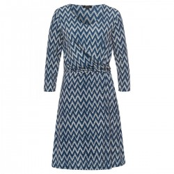 Jersey dress with zig-zag print by More & More