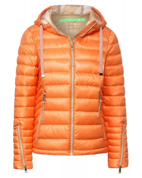 Quilted jacket with hood by Street One