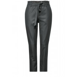 PU pants with paperbag waistband by Street One
