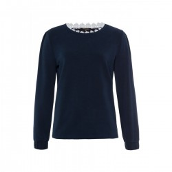 Sweatshirt with lace by More & More