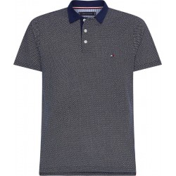 Polo shirt with allover print by Tommy Hilfiger