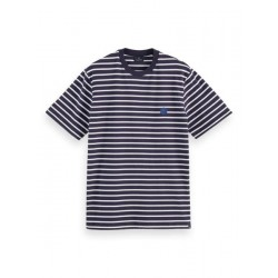 T-shirt with stripes by Scotch & Soda
