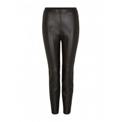 Leggings with Fake Leather Coating by s.Oliver Black Label