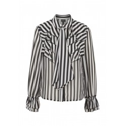 Striped blouse with ruffles by s.Oliver Black Label
