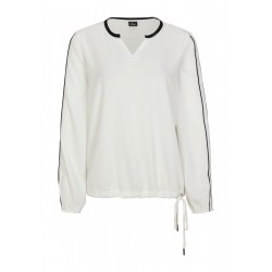 Blouse shirt with contrast details by s.Oliver Black Label