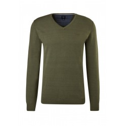Fine knit sweater with V-neck by s.Oliver Red Label