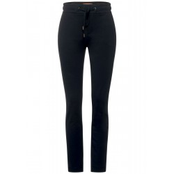 Loose fit pants in solid color by Street One