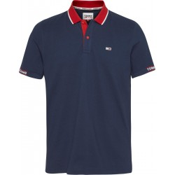 Detail rib jaquard polo by Tommy Jeans