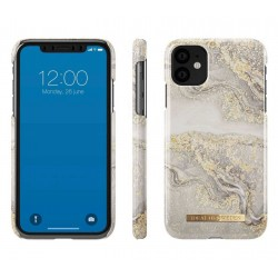 Cell phone case Sparkle Greige Marble (iPhone 11) by iDeal of Sweden