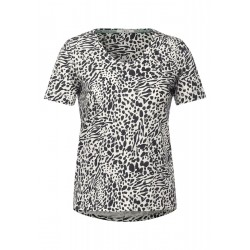 Animal Print Mix T-Shirt by Cecil