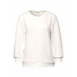 Sweatshirt with structure optics by Street One