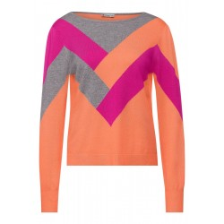 Pullover mit Colourblock by Street One