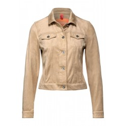 Short velour jacket by Street One