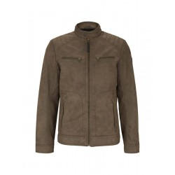 Bikerjacke aus Velours by Tom Tailor