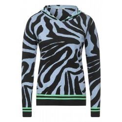 Zebra Jaquard Pullover by Cecil