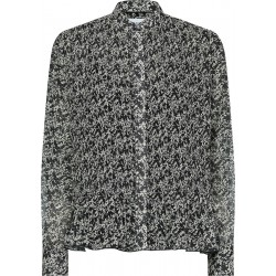 Pleated blouse with print in chiffon by Calvin Klein