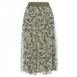 Printed Mesh Skirt by More & More