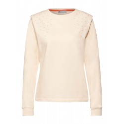 Sweatshirt with shoulder rivets by Street One