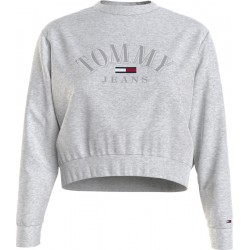 Cropped fit sweatshirt with logo by Tommy Jeans