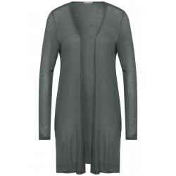 Fine long jacket with slits by Street One