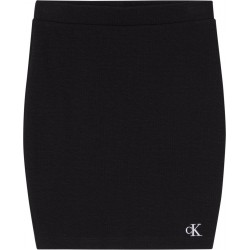 Bodycon mini skirt made of stretch rib by Calvin Klein Jeans