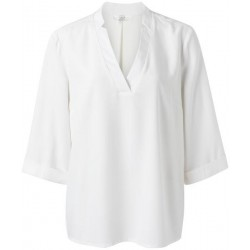 V-neck blouse with 3/4 sleeves by Yaya